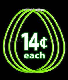 22 Inch Glow Necklaces - Green - Glow Sticks, Glow Necklaces, Glow Bracelets, Wholesale Cheap Glow Sticks