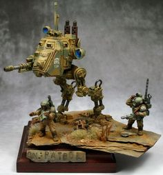 Warhammer 40k | Astra Militarum | Sentinel Diorama #warhammer #40k #40000 #wh40k #wh40000 #warhammer40k #gw #gamesworkshop #wellofeternity #miniatures #wargaming #hobby #tabletop