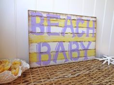 Beach  Baby Nautical Nursery  Sign by MeetMeByeTheSea on Etsy, $29.95
