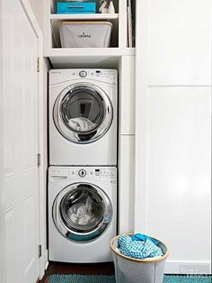 """Exceptional """"laundry room stackable washer and dryer"""" info is readily available on our internet site. Take a look and you wont be sorry you did. Tiny Laundry Rooms, Laundry Room Layouts, Laundry Room Organization, Laundry Room Design, Basement Laundry, Laundry Area, Laundry Closet, Stackable Washer And Dryer, How To Clean Pillows"""