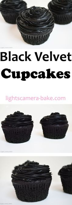 Black Velvet Cupcakes are soft, fluffy and moist, have the same flavour as red velvet but are completely black!