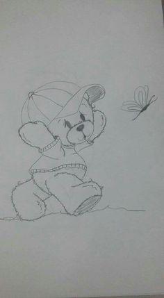 Sketch - Bear Chasing A Dragonfly