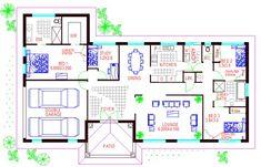 Australian Houses 4 Bedroom | Modern home | house plans australia |4 bedroom house plans|house floor plan designs