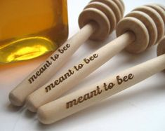 HONEY Dipper Wedding Favor - Meant To Bee Engraved Honey Dipper - Set of 85