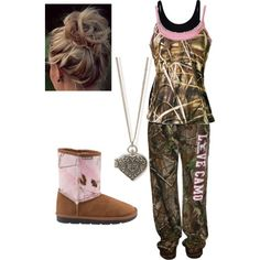Designer Clothes, Shoes & Bags for Women Cute Cowgirl Outfits, Cute Country Outfits, Country Wear, Country Girl Style, Camo Outfits, Country Fashion, Cute Comfy Outfits, Western Outfits, My Style