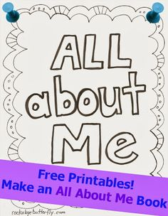 all about me free printable book free and easy and a cute keepsake - Printable Books For Kids