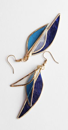 gris perle boucles d/'oreille classiques avec des motifs de feuilles de fleur bla