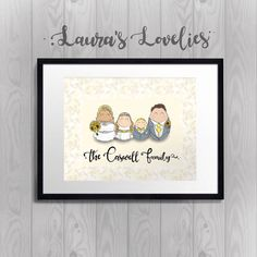 Our family Personalised Portrait Digital Artwork by LauraLovelies