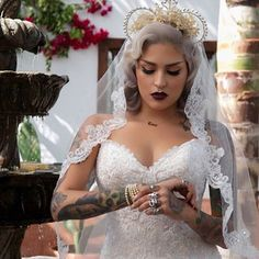 Shout out to everyone who thinks you need to take out your piercings and cover up your tattoos for your wedding! Reality check: You don't. | 19 Women With Downright Beautiful Facial Piercings