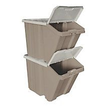 Iris Clear Stackable Recycle Storage Bins Pinterest Recycling