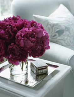 Inspired Design: Color Soiree: Gray & Raspberry  This color for my bouquet- maybe a bit deeper/closer to red