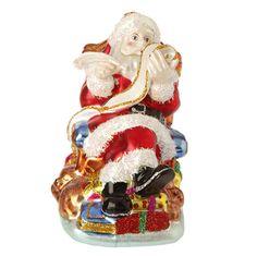 "The Jolly Christmas Shop - Raz 4.5"" Santa with Naughty or Nice List Glass Christmas Ornament 3420034, $8.99 (http://www.thejollychristmasshop.com/raz-4-5-santa-with-naughty-or-nice-list-glass-christmas-ornament-3420034/?page_context=category"