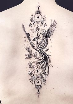 Phoenix Tattoo Feminine, Phoenix Back Tattoo, Small Phoenix Tattoos, Phoenix Tattoo Design, Simple Phoenix Tattoo, Phoenix Tattoo Sleeve, Rising Phoenix Tattoo, Phoenix Design, Phoenix Art