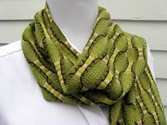 Lime and Dark Chocolate - Handwoven Vegan Bamboo Scarf  http://www.etsy.com/transaction/40531641