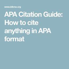007 example of apa citation in paper APA citation handout