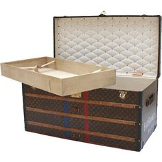Louis Vuitton Courier Trunk with BA and Rainey Monogram - Louis Vuitton - Brands - Vintage Luggage Company