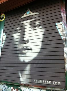 by Kevin Ledo - 'Evelyn Betsy' - acrylic wall paint on metal door - Costa Rica Murals Street Art, Street Art Graffiti, Caricatures, San Jose Costa Rica, Street Installation, Art Rules, Amazing Street Art, Beautiful Streets, Portraits