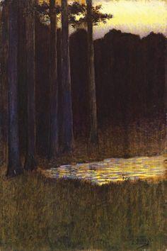 La Forêt le Soir, Alphonse Osbert, s.d.