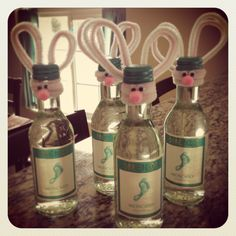 Mason jar easter gift ideas easter bunny easter and bunny what is an awesome bunny rabbit pipe cleaner craft as a spring hostess gift this easter candy for adults perfect 4 pack of mini wine bottles right negle Choice Image