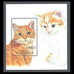 Tanzania, Sc #1816, MNH, 2001, Cats, Souvenir Sheet