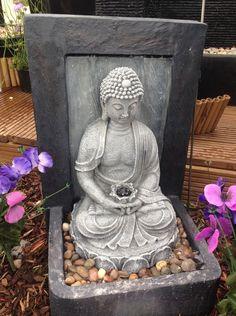 Garden Resin Fountain Buddha Patio Outdoor Water Yard Decor Sculptural Led Light