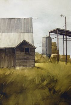 "Long Days by Joseph Alleman Watercolor ~ 22"" x 15"""