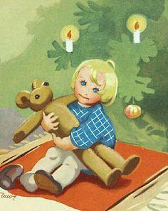Martta Wendelin Christmas Past, Very Merry Christmas, Christmas Images, Christmas Greetings, Christmas Child, Vintage Christmas Cards, Retro Christmas, Vintage Cards, Vintage Postcards