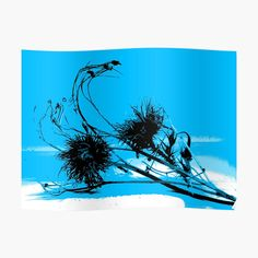 Thistle Seed, Silhouette S, Top Artists, Colorful Backgrounds, Moose Art, Seeds, My Arts, Blue And White, Tapestry