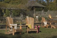 Arthur Lauer Adirondack chair kits are fun and rewarding! Teak Garden Bench, Teak Garden Furniture, Outdoor Furniture Sets, Outdoor Chairs, Dining Chairs, Outdoor Decor, Adirondack Chair Kits, Beauty Chair, Salon Styling Chairs