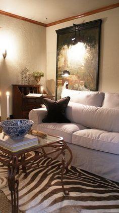 Custom linen slipcover for IKEA Ektorp by Comfort Works