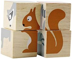 BeginAgain Buddy Blocks Backyard Animals - A great first block set that grows with your child! This rubber wood puzzle forms 6 differen Diy Montessori Toys, Craft Activities For Kids, Colorful Animals, Wood Toys, Diy Toys, Toddler Toys, Educational Toys, Travel Size Products, Kids Playing