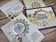 Creating Success with Ronda Wade Stampin' Up! Snowflake Sentiments, Year of Cheer Specialty DSP, Winter Wonderland TIEF, Year of Cheer Embellishments, Foil Snowflakes https://www.facebook.com/trainingwithrondawade/photos/a.10151931644075320.1073741826.210614550319/10155489249270320/?type=3&theater