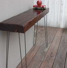 Old wood side table.