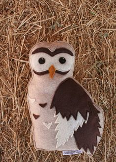 Forest Critters Owl with Owlet Eco Friendly by SavageSeeds on Etsy, $35.00