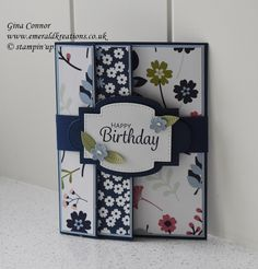 Fancy Fold Cards, Folded Cards, Kids Birthday Cards, Happy Birthday, Paper Punch, Little Flowers, Card Tutorials, Cool Cards, Northern Ireland
