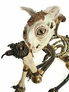 More intersting use of skeletons - Bejeweled Animal Skeletons - Jessica Joslin's Macabre Art Bone ...