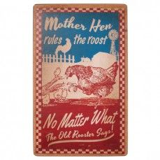 Distressed Retro Mother Hen Sign