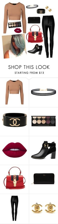 """""""Happy kid."""" by bunnisexy ❤ liked on Polyvore featuring LULUS, Chanel, Witchery, Lime Crime, Ted Baker, Gucci, Lacoste and Zeynep Arçay"""
