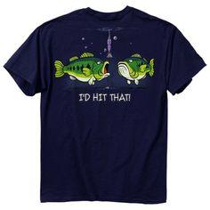 New I'D HIT THAT BASS FISH T-SHIRT NEW FISHING SHIRT--FUNNY  SHIRT