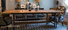 Industrial Farm Table Dining Room, Dining Table, Kitchen Tables, Pine, Outdoor Living, Dressing, Industrial, House, Furniture