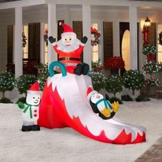 Holidayana Christmas Inflatable Giant 8 Ft. Penguin Best Offer in ...