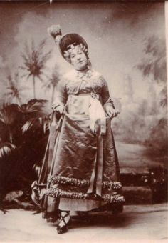 """Alfred Ellis photograph of Rosina Brandram as Lady Sophy in Act 1 of the original production of """"Utopia Limited"""" (1893)."""