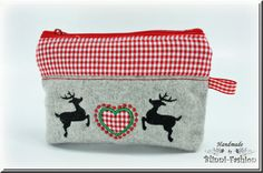 Makeup bag pouche with a heartdeer application by BlinniFashion Etsy