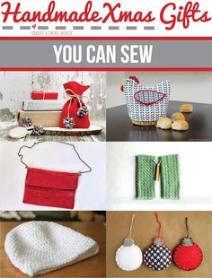 6 Handmade Xmas #Gifts You Can #Sew