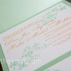 Green and Orange Invitations