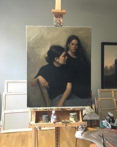 """9,405 """"Μου αρέσει!"""", 86 σχόλια - Nick Alm Art (@nickalmart) στο Instagram: """"Some finishing touches on a portrait commision. The girls did a good job posing so things were…"""""""