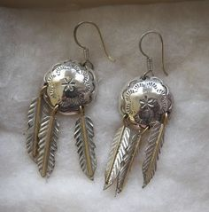 $15.00 Silver Indian Style Earrings from Mexico (82115-1346MS) jewelry, collectibles #THUE