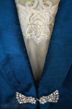   Behind the Seams   Excited to hand over this gorgeous custom made mother-of-the-#groom outfit today! Featuring a delicate pure #silk# camisole with French #Chantilly #lace #appliqué, a tailor made blazer with #Swarovski crystal clasp closure, and tailor made trousers in the most beautiful of #Kingfisher blues; Lynne is sure to make an impression when she wears it to her son's #wedding on Saturday! xx KIMBERLEY WOODWARD DESIGNS #motherofthebride #motherofthegroom