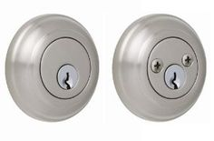 Sapphire DB12-1-US15 Double Cylinder Deadbolt, Satin Nickel by Sapphire. $19.99. From the Manufacturer                The Sapphire Collection Double Cylinder Deadbolt features a clean stylish design while offering dependable, reassuring security. Manufactured of solid forged brass and superior quality materials, this series leads our lock offering in both quality and style. This deadbolt set come with two cylinders.  A key must be used on either side of the door if the do...