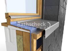 Rathscheck Schieferdetails - Schieferfassade-Ausfuehrung Fensterbank House Cladding, Wall Cladding, Passive House Design, Window Detail, Home Fix, Architectural Section, Architecture Details, Interior Design Living Room, Building A House